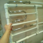 Полотенцесушитель в ванной своими руками
