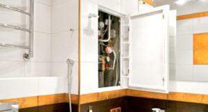 Как сделать скрытый люк в ванной