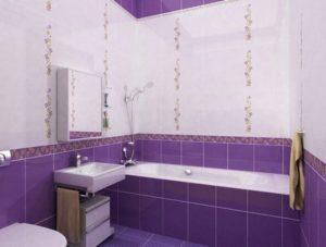 Примеры отделки ванной комнаты плиткой